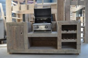 Buitenkeuken bouwtekening om zelf te maken van steigerhout for Foto op hout maken eigen huis en tuin