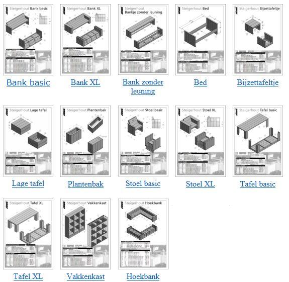 Dit zijn de gratis bouwtekeningen die door Ju00e9wu00e9 worden verspreid via ...