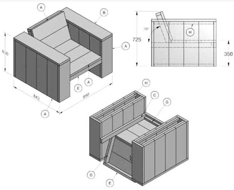 Steigerplanken meubels zelf maken tekeningen