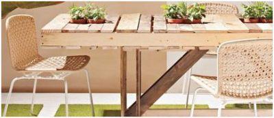 Tafels zelf maken van steigerplanken of pallets for Zelf tuintafel maken van steigerhout