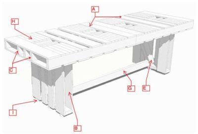 Tafels zelf maken van steigerplanken of pallets.