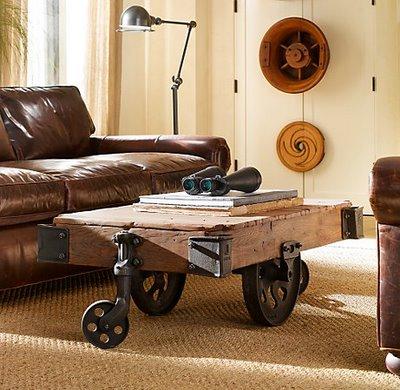 Steampunk dystopische retro fantasie meubelen met for Tafel van steigerplanken
