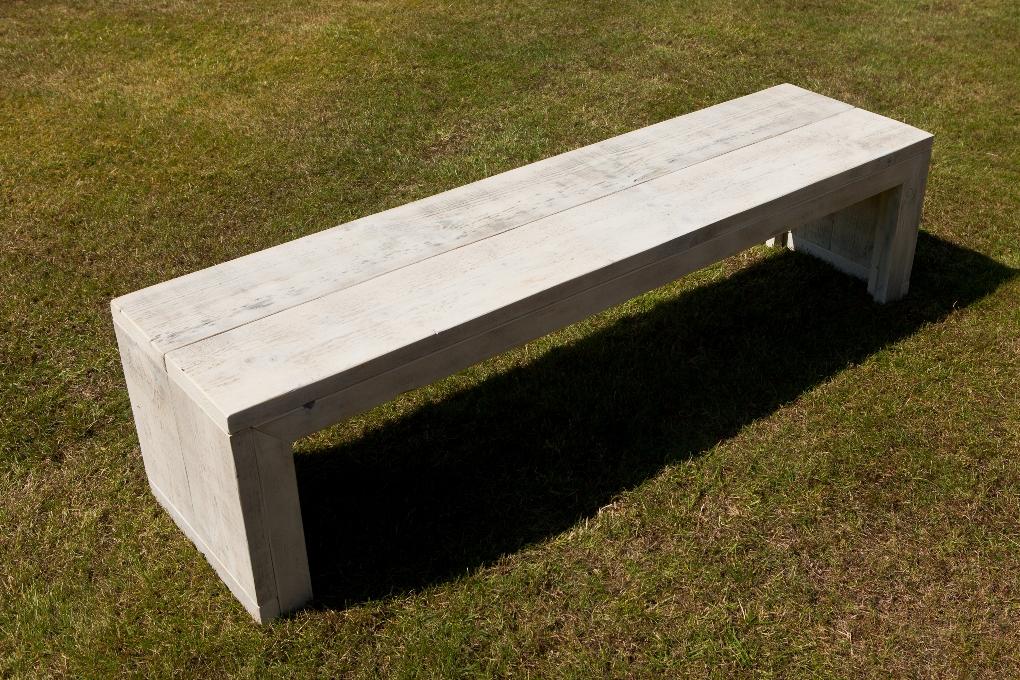 Tuinbank hout zelf maken halve parasol for Zelf meubels maken van hout