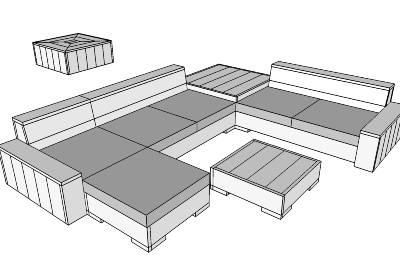 Gratis bouwtekeningen steigerhouten meubelen