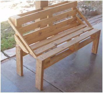 Tuinbank van pallets houten bankje zelf maken - Exotisch onder wastafel houten meubilair ...