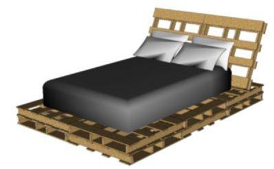 Bedden zelf maken pallets steigerhout en buizen - Paletten 140x200 ...