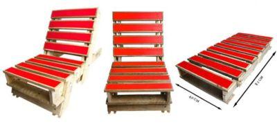 Stoel van pallets tuinstoelen en fauteuils - Maken rode verf ...