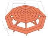 picknicktafel-achthoekig