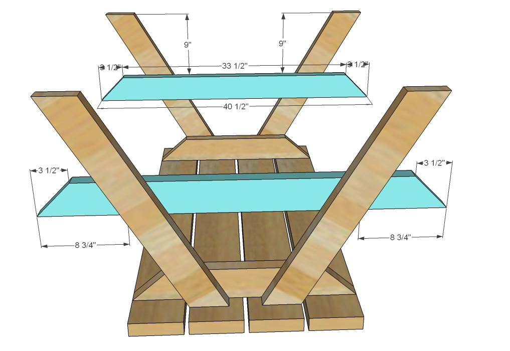 Plans for making a round picnic table quick woodworking for Table design plans