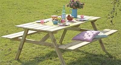 Houten poorten: picknicktafel gamma