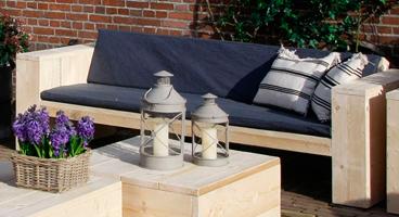 Steigerhouten loungebank bouwtekening en voorbeelden van for Steigerhout praxis