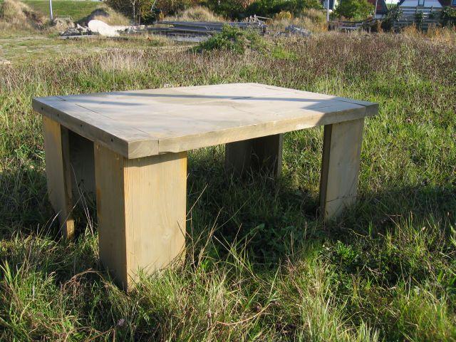 Steigerhout tafels bouwtekeningen en beschrijving hoe je for Tuintafel maken van steigerhout