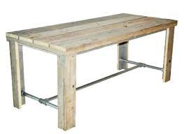 Gratis bouwtekeningen om zelf meubelen te maken van for Tafel van steigerplanken