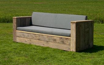 Kussens loungebank steigerhout
