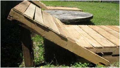 Ligbed steigerhout maken