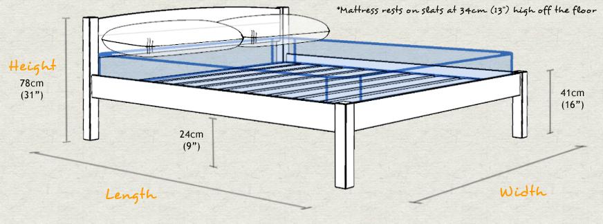 Bedden van steigerhout om zelf te maken met gratis for Bed van steigerhout maken