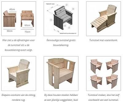 Tekening Houten Tuinstoel.Tuinstoel Bouwtekeningen Voor Steigerhout En Pallets