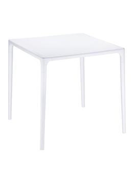 Plastic tafels voor in de tuin en kunststof terrastafels - Transparante plastic tafel ...