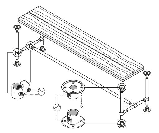 Steigerbuizen tafel bouwtekening