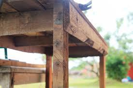 Tuintafels om zelf te maken for Tuintafel maken van steigerhout