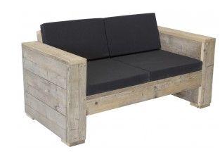 Tuinbank voor 2 personen bouwtekening voor steigerhout for Steigerhout loungeset zelf maken