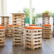 Barkrukken en tuinbar om zelf te maken van pallets.