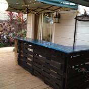 Palletbar bouwtekening voor een winkelbalie of bartafel - Hoe je een centrum eiland keuken te maken ...