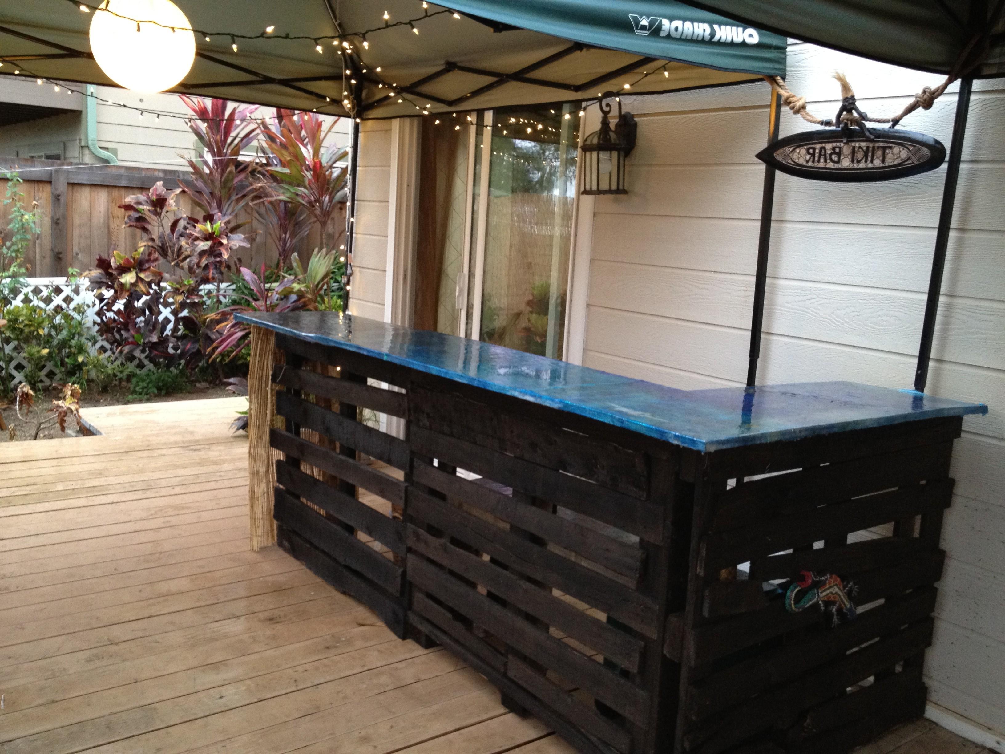 Palletbar om zelf te maken, maak een gratis bar van sloophout.