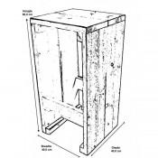 Zelfmaak voorbeeld voor een eenvoudig model barkruk, voor steigerhout of pallet planken.