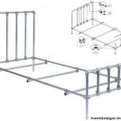 Zelf een steigerbuis bed maken, dit is de gratis bouwtekening voor een ledikant van steigerbuizen.