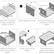 Gratis bouwtekeningen voor doe het zelf meubelen Steigerhouten tafel met steigerbuizen zelf maken