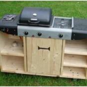 Steigerhout keuken voor buitenshuis.