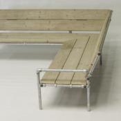 Loungeset bouwtekeningen voor steigerhout tuinmeubels. Banken