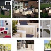 Deze steigerhouten meubelen kun je zelf maken met de gratis bouwtekeningen door Jéwé houtimporteurs.