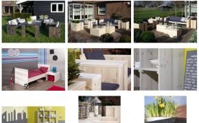 Bouwmarkt bouwtekeningen uitgewerkt. Deze steigerhouten meubelen kun je zelf maken met de gratis bouwtekeningen door Jéwé houtimporteurs.