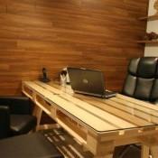 Bureau en kantoortafel om van pallets te maken.