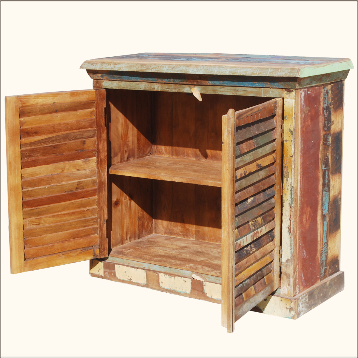 Keukenblokje van sloophout.