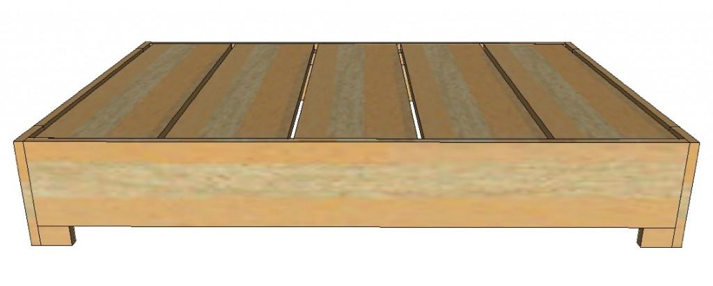 Maak zelf van pallets een simpele koffietafel. Gratis bouwtekening.