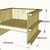 Gratis bouwtekening voor stoelen van een pallet.