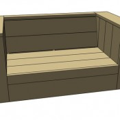 Loungeset bouwen, maak een tuinbank van steigerhout in lounge model XL.