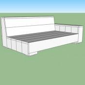 Maak zelf een houten tuinbank, loungebank voor twee personen.