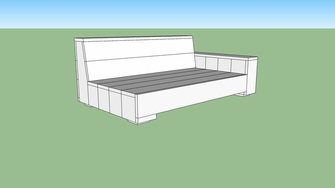 Tuinbank van steigerhout loungebank element bouwtekening for Steigerhout loungeset zelf maken