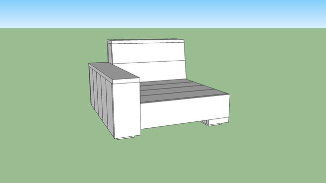 Loungebank hoekelement voor een steigerhouten tuinbank for Steigerhout loungeset zelf maken