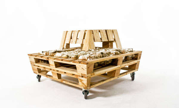 Bank Van Pallets : Tuinmeubelen praxis beautiful top pallet bank bouwtekening