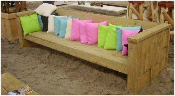 Loungebank maken gratis bouwtekening voor steigerhout for Steigerhout loungeset zelf maken