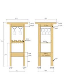 Barkrukken van steigerhout gratis bouwtekeningen - Hoe u een projector te installeren buiten ...