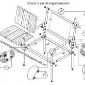Maak zelf meubelen van steigerbuizen met een aantal gratis bouwtekeningen.