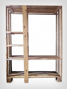 Doe het zelf wandkast van pallets en steigerhout.
