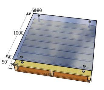 Om van pallets te maken, de bouwtekening voor deze pallet tafel kun je ronddraaien in de 3Dviewer..