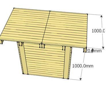 Doe het zelf voorbeeld voor bartafels die je van een pallet kunt maken, gratis 3D bouwtekening.